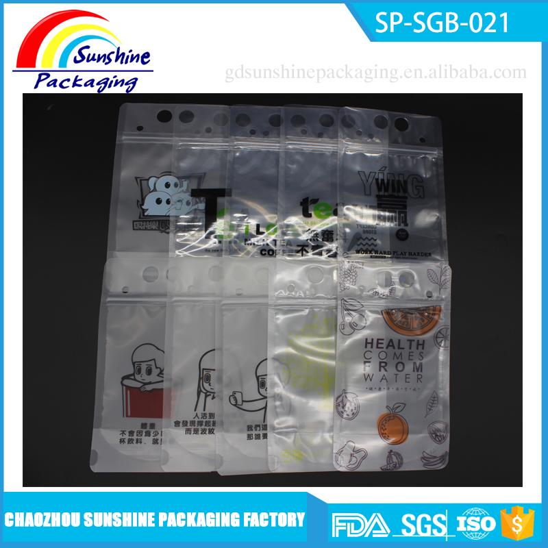 Wholesale Food Packaging Plastic Stand Up Pouch with Zipper and Handle