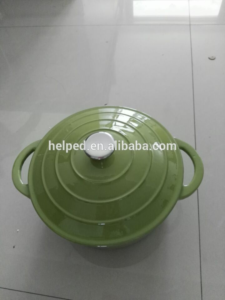 green color enamel cast iron cookware