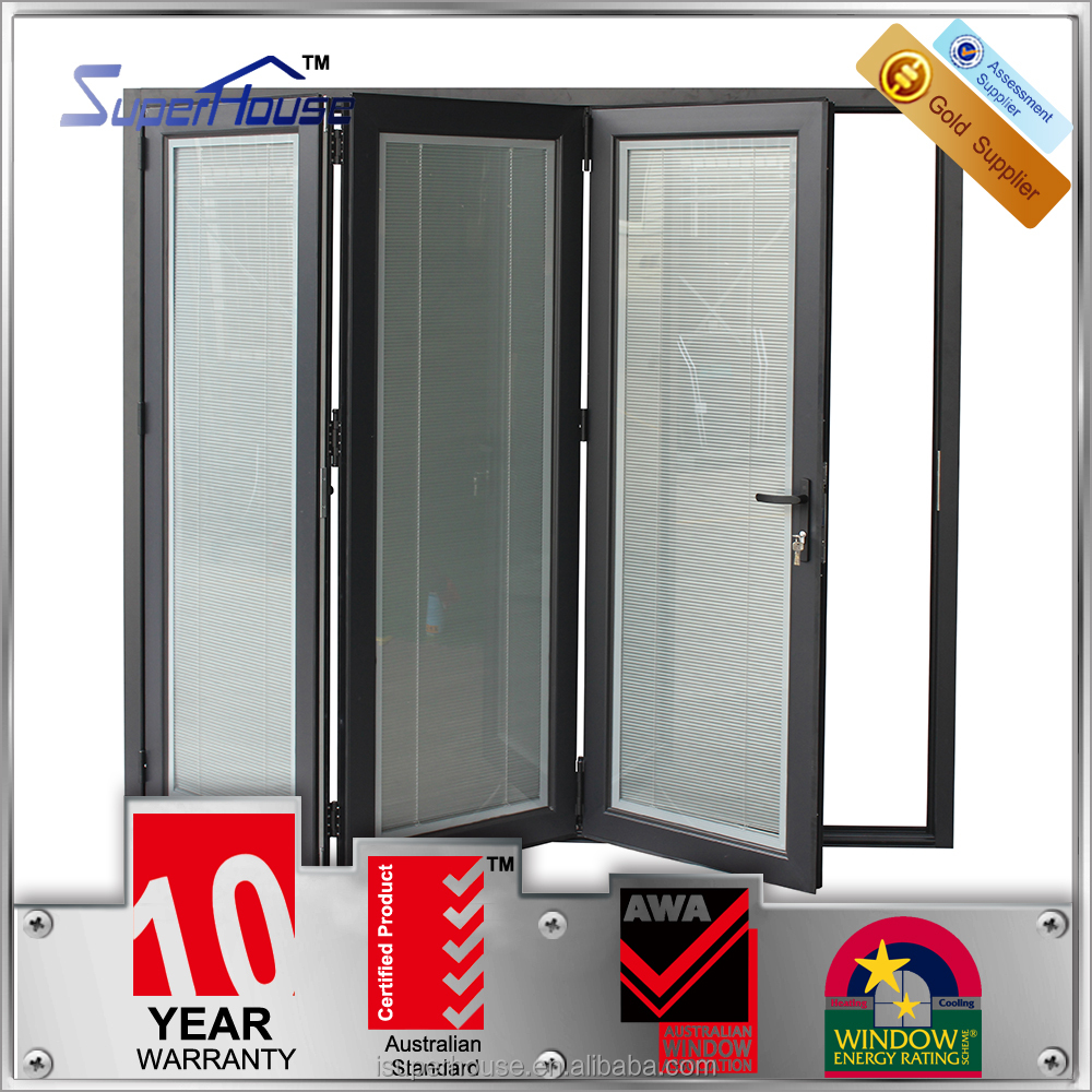 Aluminium Double Glass Door With Venetian Blinds, Aluminium Double ...
