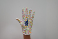 hot mechanical flower lady garden working gloves with PVC dots on palm