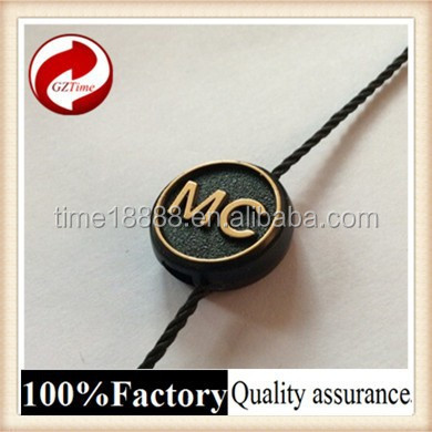 cord loop lock plastic seal tag with logo string price tag clip