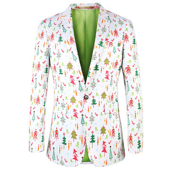 2017 Fashion Printed Men Ugly Christmas Blazer Suit Christmas ...