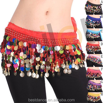 22fb7cafe BestDance women belly dance color hip skirts scarf belts arabic belly  dancing belt waist chain with