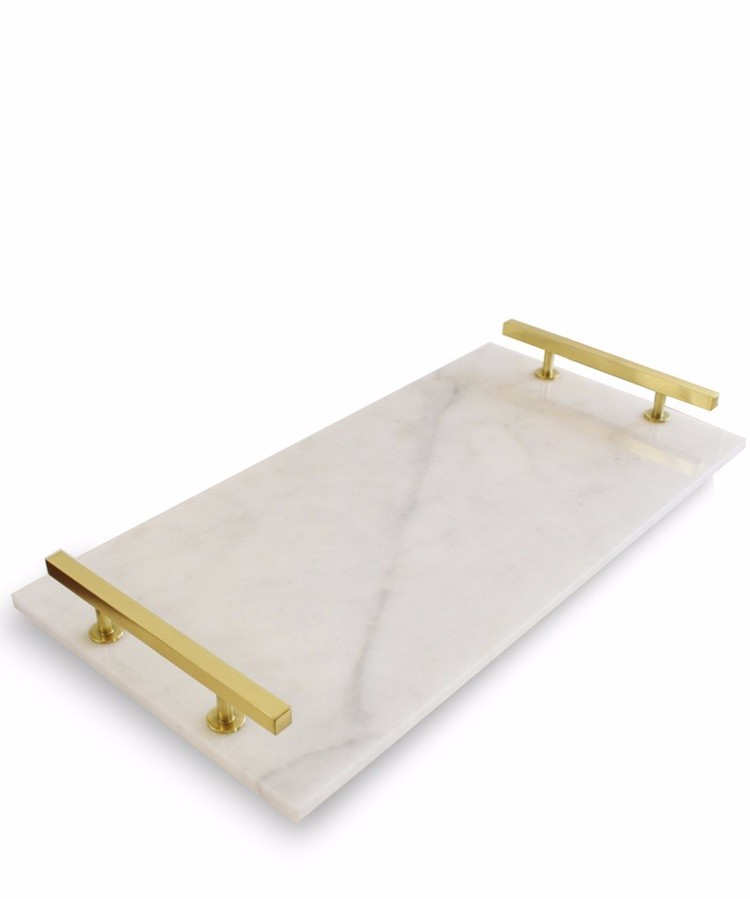 2017 Kinslate Marble Tray For Wedding Food Serving With
