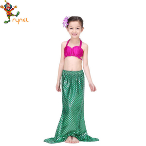 Cheap Wholesale Kids Fancy dress Carnival Costumes Cosplay Party Beautiful Girls Mermaid Costumes