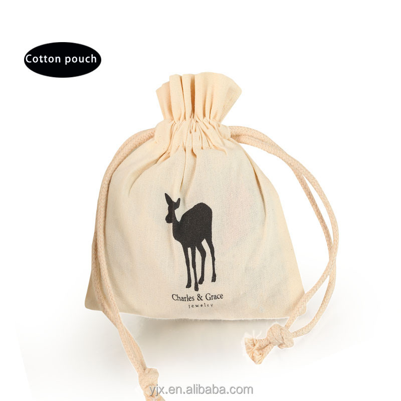 2017 factory small cheap organic cotton drawstring bags supplier