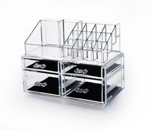 Plastica cosmetica make up 4 pareggi 2 pz set organizer
