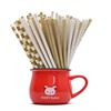 eco colorful bendable plain black brown paper straw