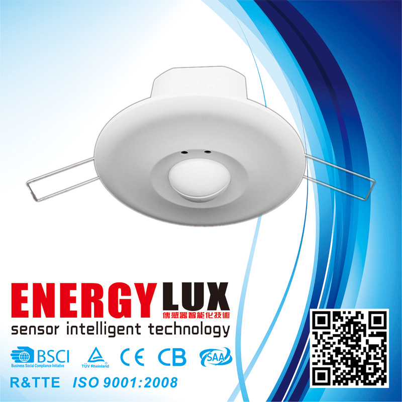 ES-M12 360 degree spring ceiling mount microwave motion sensor