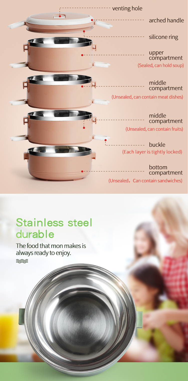 Colorful design stainless steel thermal insulation keep warm pot / heat retaining pot set
