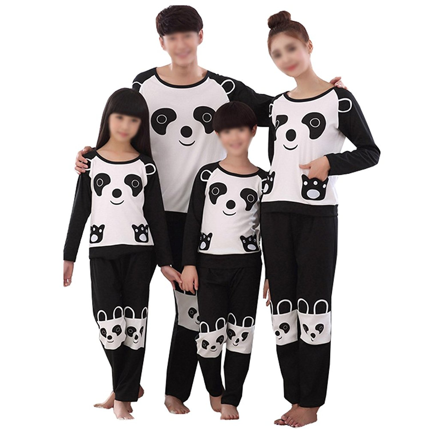 c83fde0d7e Get Quotations · KM Panda Printing Family Pajamas Long Sleeve Cotton Pajamas  Set