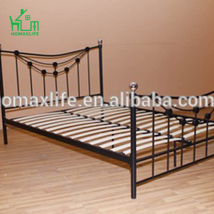 Modern Black Bedroom Furniture Wrought Iron Adult Bunk Bed Double ...