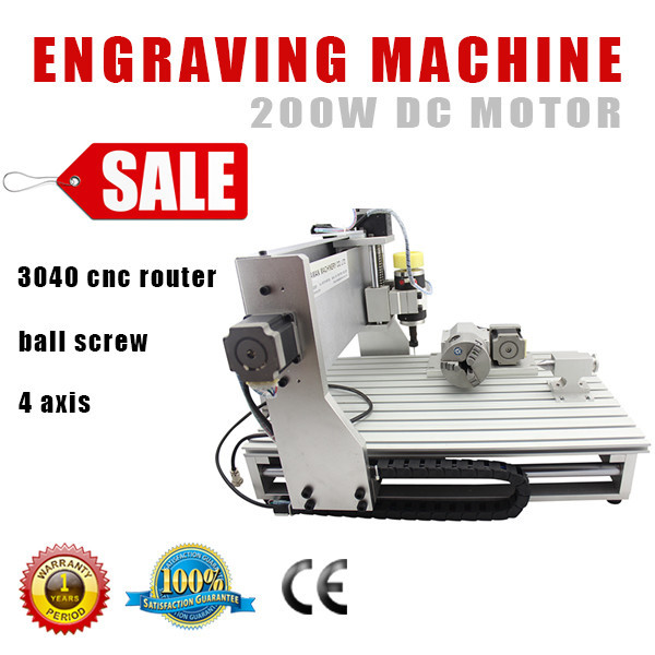 Free Shipping by sea Engraving Milling Machine <strong>CNC</strong> 3040 4 Axis <strong>CNC</strong> Router with 200w 800w 1.5kw 2.2KW spindle Rotary Axis auto ze
