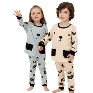 Good sale comfortable long sleeve 2 piece kids girls children clothing sets