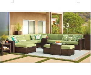 Hot sale patio outdoor garden classic wicker big sectional sofa set furniture