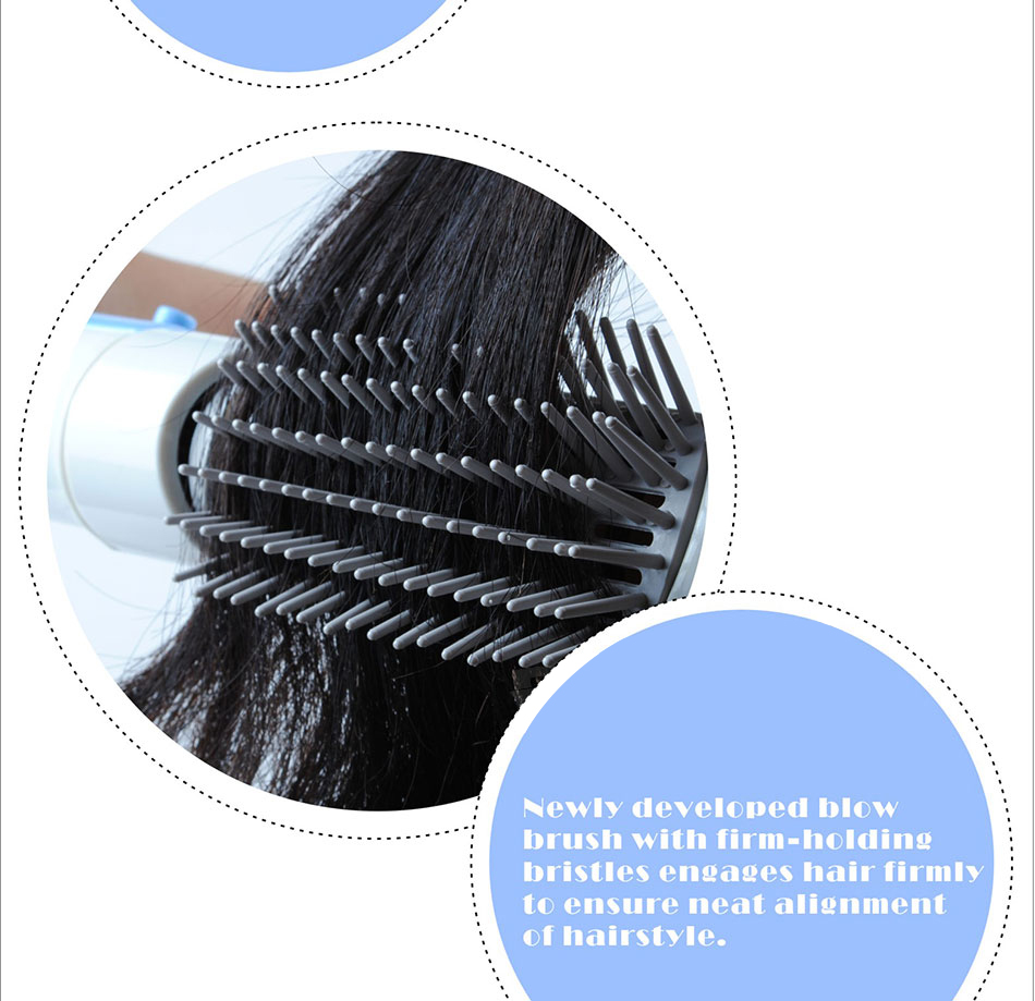 Dsp profissional elétrico pente secador de cabelo