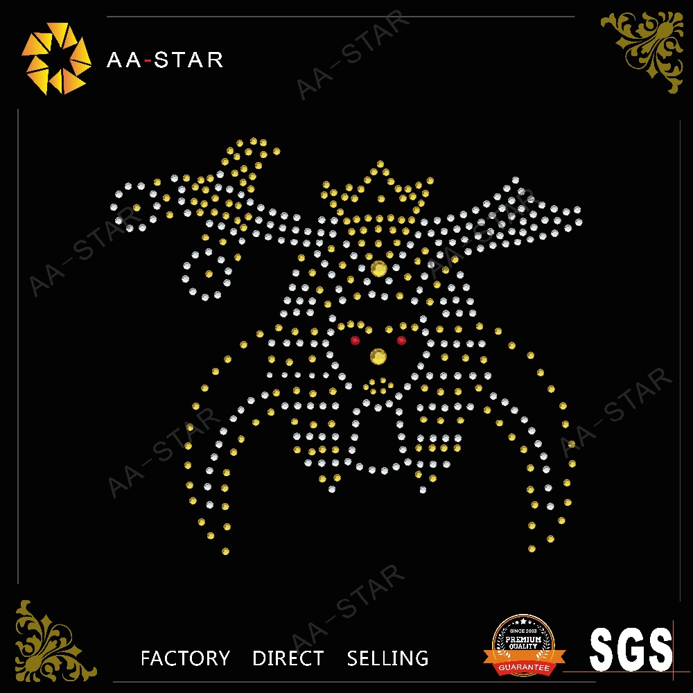 Iron on queen motif design whith hign quality rhinestone,rhinestone transfer template material
