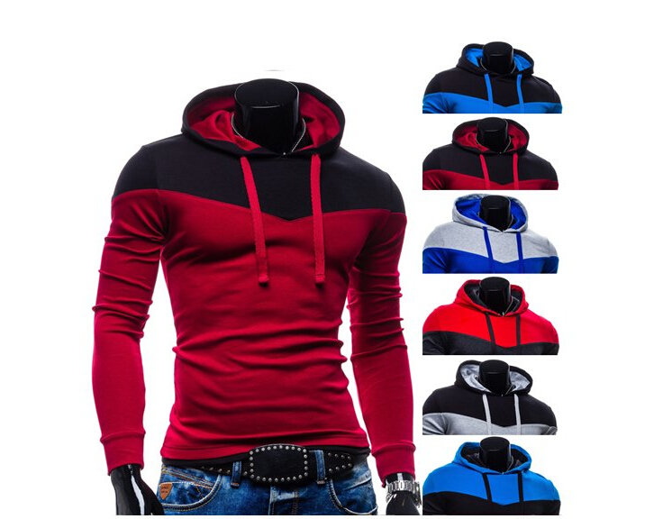 382f22d75db4 Get Quotations · New 2015 Spring Slim Fit Men Hoodies Mens Sports Casual  Sweatshirt Jackets Outerwear Fashion Men s Pullover