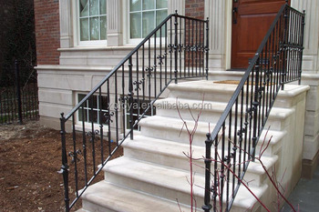 Exterior handrail lowes used metal stairs buy handrail lowes exterior used metal stairs for Lowes exterior wrought iron railings
