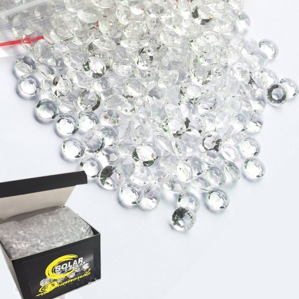 800 Diamond Table Scatter Confetti 4 Carat/ 10mm Clear - Diamond Theme Party Supplies - Wedding Bridal Shower Party Decorations