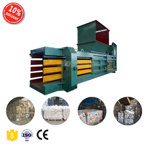 Horizontal waste used bail machine press for clothes