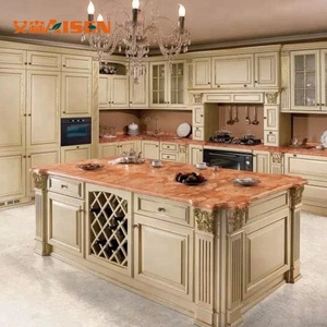 Factory direct french style manufacturer kitchen supplier kitchen cabinets solid wood