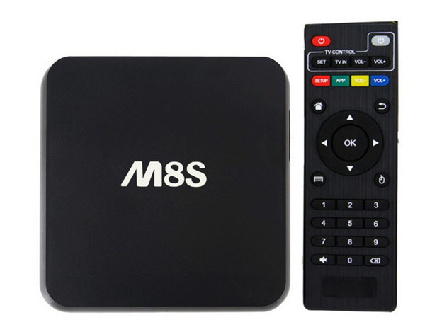 M8S amlogic s812 Android 4.4 Quad Core caja de Google TV Android 4.4 TV box AML S812/mx6 actualización 2 g/8g 2.0 GHz H.265 4 K BT4.0 AP6330