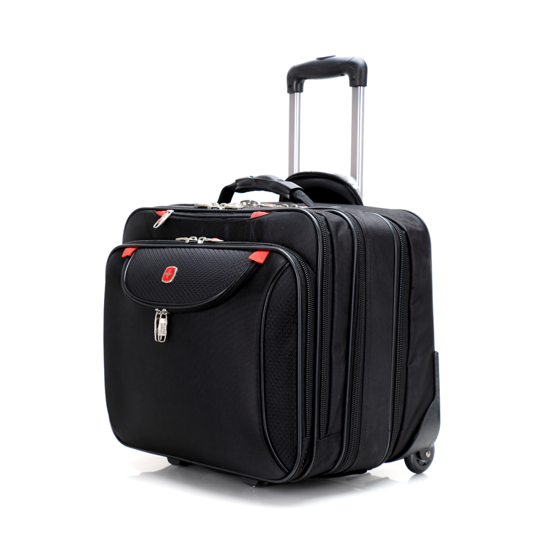 cb13df829cd Get Quotations · Swiss army knife trolley luggage bag multi-layer 17 oxford  fabric laptop bag commercial luggage