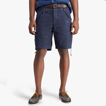 Wholesale custom logo high quality mens fashion navy utility cargo shorts with many pockets