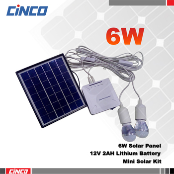 6w Small Solar Lighting Kit With