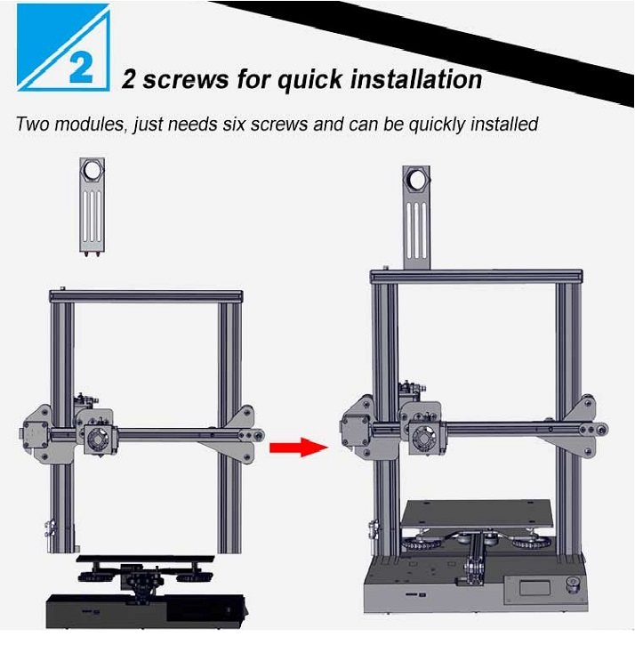 2018 Creality CR-20 fdm desktop 3D Printer high quality Print MK-10 Extruder 220X220X250 with UL certification