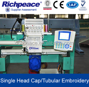 Computerized One Head Hat Tubular Embroidery Machine For Sale