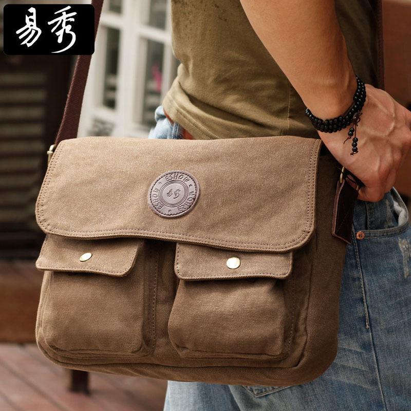 Eshow Men Messenger Bags Vintage Men Bag Canvas Shoulder