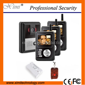 Wireless Video Door Entry Intercom System Apartment Access Control For 3 Families
