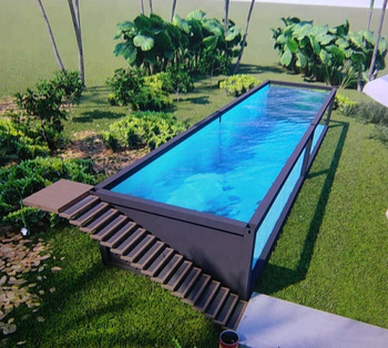 best quality custom shipping container style swimming pool buy container swimming pool. Black Bedroom Furniture Sets. Home Design Ideas