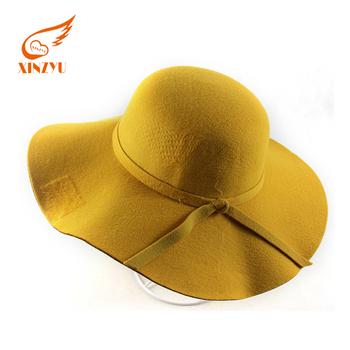 Logotipo personalizado banda Borsalino sombreros Fedora lana de ala ancha  sombrero de fieltro 2b4c3790e61