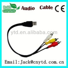 Hot Saling vga to tv converter s-video rca out cable adapter Super speed
