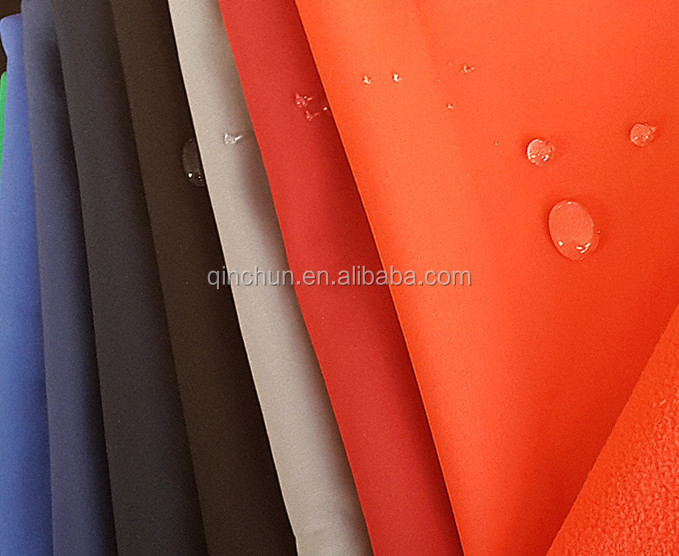 3 layer waterproof and breathable stretch softshell jacket fabric with TPU film