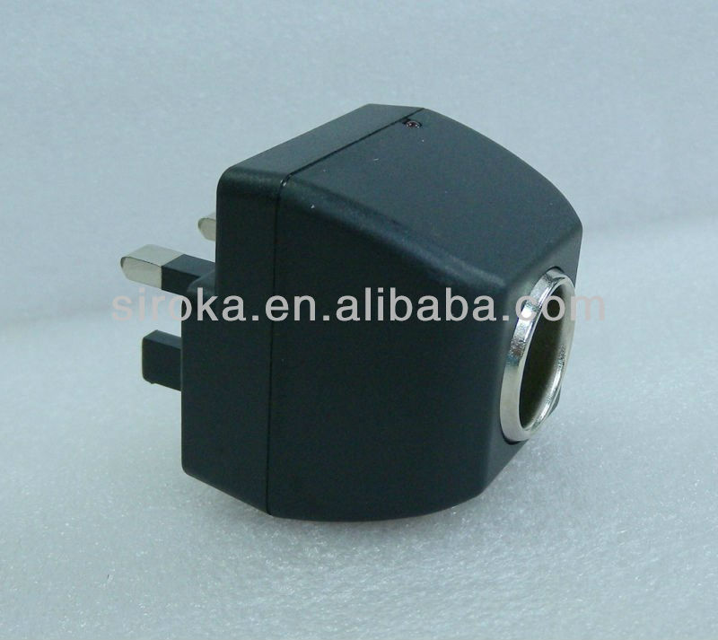 High quality AC DC Car charger Adapter for UK