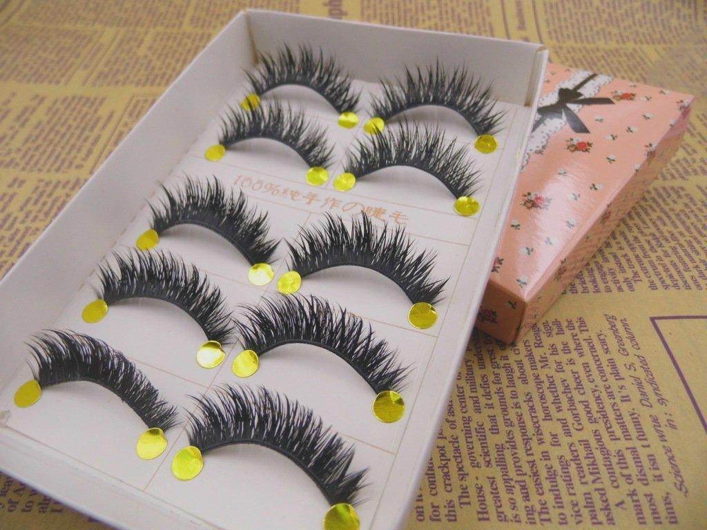 NEW B-12 5 Pairs Natural Thick BLACK COLOR PARTY False Eyelashes beauty Party Lashes HOT Eye Lashes