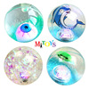 55 65 75 85 100mm Diameter hi bounce Super Duper Glitter Ball