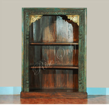 Rise Only Indian Antique Reproduction High Quality Bookcases Bookshelf Book Design