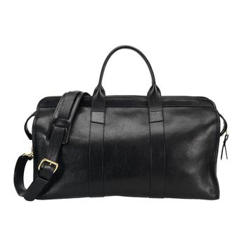 eeaf0a02ec27 Men Classic Black Leather Duffle Travel Bag Handmade Leather Weekender Bag