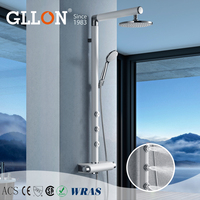 Factory best price perfect design rain bath shower with massage jets
