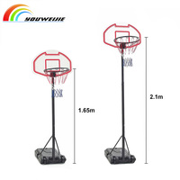 Indoor and outdoor adjustable movable basketball stand