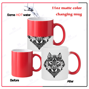 11 oz heat sensitive magic mugs with decal printing