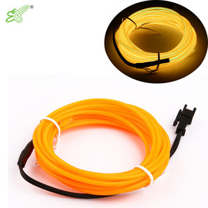 Manufacturer Whole sale diameter 5mm electroluminescent high brightness advertisement el wire el rope , flexible neon rope