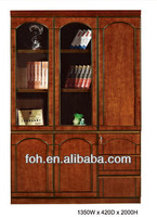 China glass door display wooden cabinet, Antique style file cabinet(FOHS-B301)