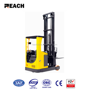China factory 2 ton forklift reach truck narrow aisle seated electric reach truck