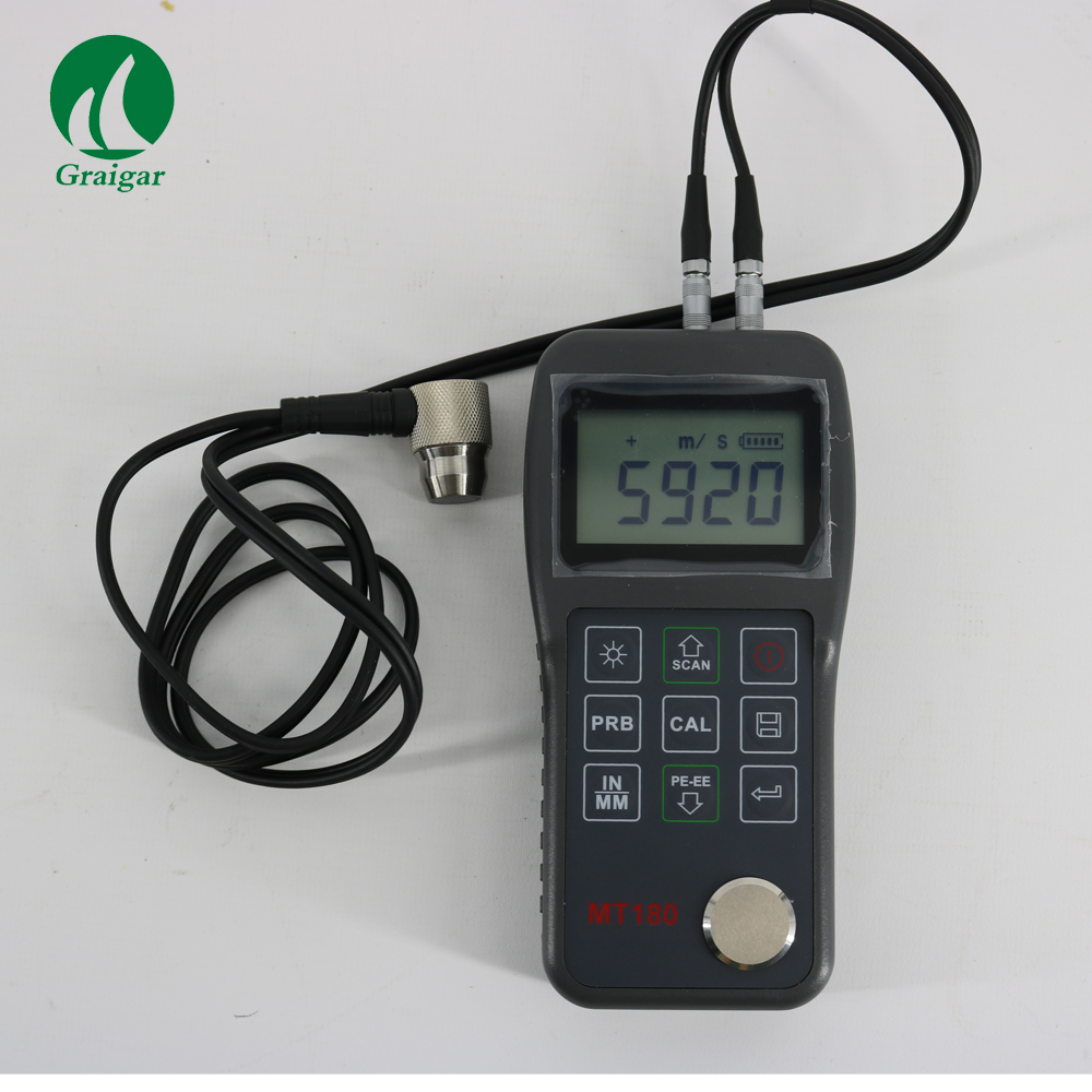 Digital 0.65--600mm Multi Ultrasonic Thickness Gauge MT180 with USB Communication